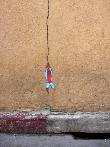 Spiderman Street Art