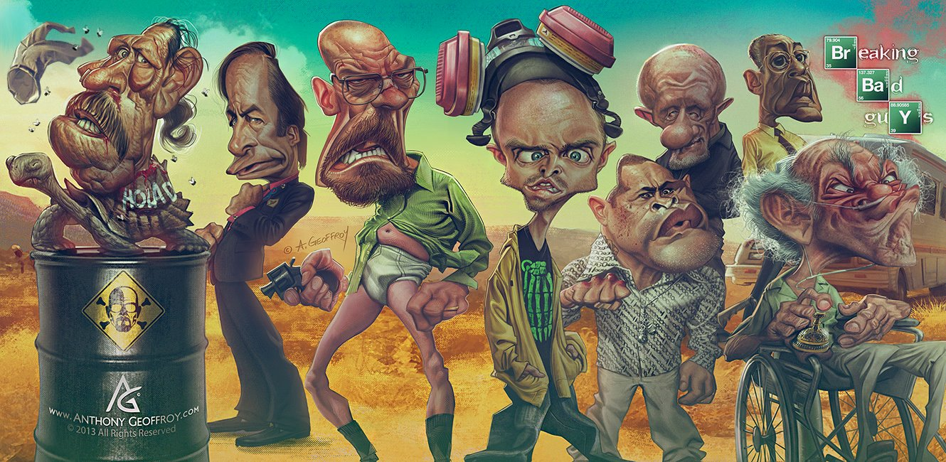 Breaking Bad Guys by Anthony Geoffroy