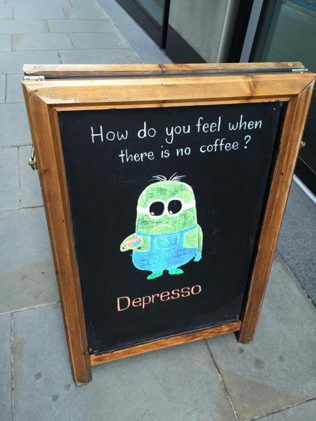 Ein Montag ohne Kaffee ist falsch, einfach nur falsch